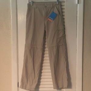 Columbia convertible pants, kids size medium